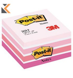 Post-It Note Cube Neon Pink - [450 Sheets]