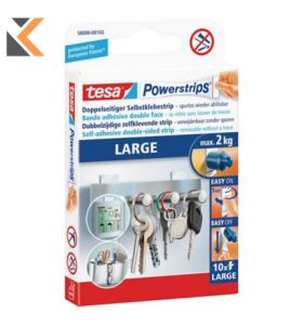 Tesa Powerstrips Fixers For 1kg Load - [Pack of 10]