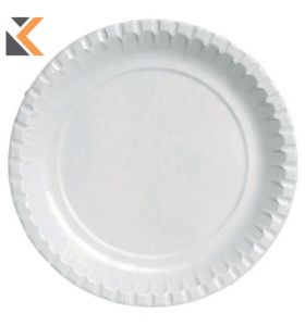 Duni White Paper Plates - [Pack of 100]