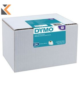 Dymo LW Large Address Labels, 24 Rolls of 130 Easy-Peel Labels - [36mm X 89mm]