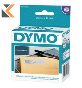 Dymo LW Large Return Address Labels, 25mm X 54mm - [Roll of 500]
