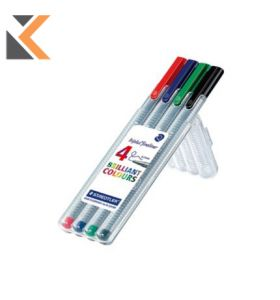 Staedtler 334 Triplus Assorted Fineliners 0.3mm - [Wallet of 4]