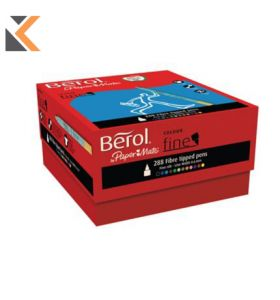 Berol Felt Tip Colouring Markers, Fine, Assorted Colours - [Pk of 288]