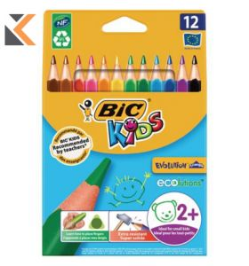 Bic Kids Evolution Triangle Colouring Pencils Assorted - [Pack of 12]