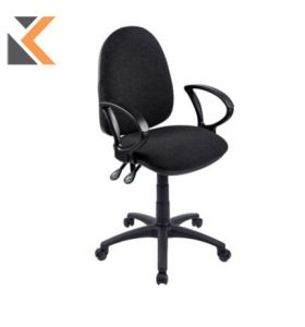Origin Medium Back Operators Chair With Arms - [Black]
