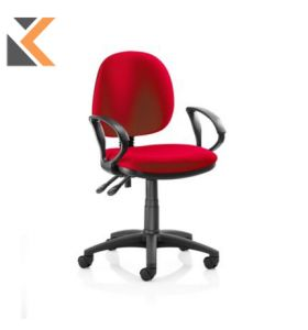 Origin Medium Back Operators Chair With Arms - [Red]