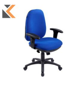 RE1 Deluxe High Back Operators Chair With Synchron - [Blue]