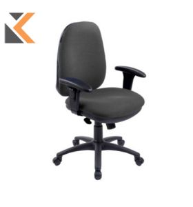 RE1 Deluxe High Back Operators Chair With Synchron - [Charcoal]