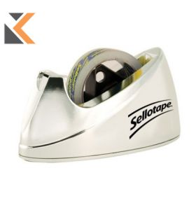 Sellotape Large Chrome Tape Dispenser For Tapes - [25mm X 33/66M]