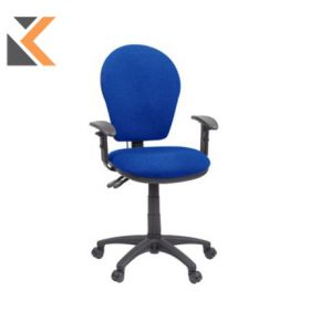 GL6 High Back Operators Chair With Inflatable Lumbar - [Blue]