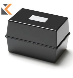 Black Card Index Box - [127 X 76mm]