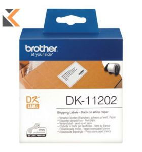 Brother DK11202 Labels Shipping 62 X 100mm - [Box of 300]