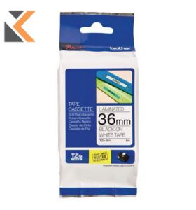 Brother P-Touch TZ Labelling Tape Black On White - [8M X 36mm]