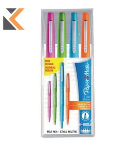 Paper Mate Flair Pen, 1.1mm Medium Tip, Assorted Colours - [Pack of 4]
