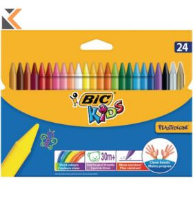 Bic Kids Plastidecor Crayons - [Wallet of 24]