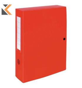 Exacompta Press Stud Filing Box, 80mm Spine, A4 Red - [25X33cm]