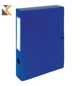 Exacompta Press Stud Filing Box, 40mm Spine, A4 Blue - [25X33cm]