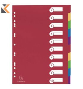Exacompta PP Dividers, A4 Multi-Coloured - [10 Part]