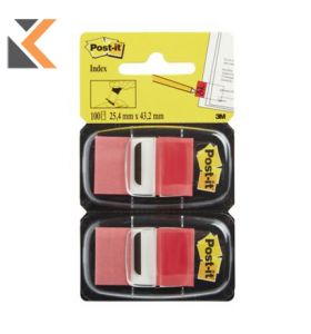 Post-It Index Dual Pack 25 X 44mm Red - [2 Dispensers of 50]