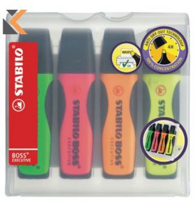 Stabilo 73/4 Executive Highlighter Assorted - [Box of 4]