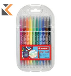 Stabilo Trio 2 In 1 Double Assorted End Pen - [Box of 10]