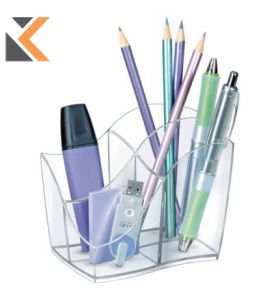 Cep Isis Pencil Cup 4 - Compartments Crystal