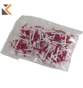 Treasury Tag 25 mm Red - [Pack of 100]