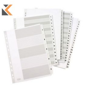 Elba Strongline A5 Indices With White Plastic Coated Tabs - [1-10]