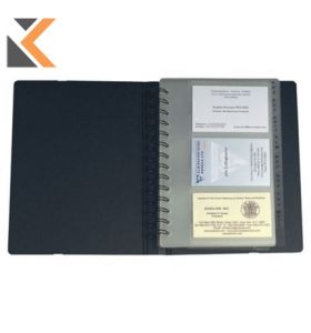 Exactive Exacard Business Card Holder, 20X14.5cm, 120 Cards Black - [20 Sheets]