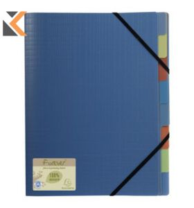Forever PP Multipart File, 8 Sections Blue - [24X32cm]