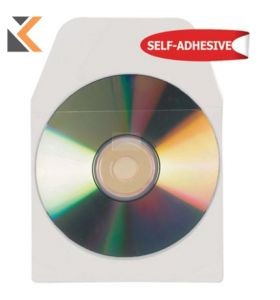 3L CD/DVD Pockets With Flap Adhesive Backed - [Pack of 10]