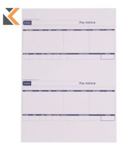 Sage-Compatible A4 Laser Payslip Advice Forms - [1 Part - Box Of 1000]
