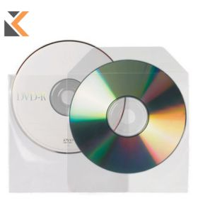 3L CD/DVD Pockets With Flap Non Backed Adhesive - [Pack of 25]