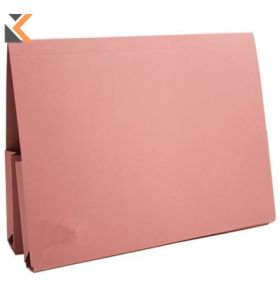 Guildhall Double Pocket Legal Wallet, 315gsm, 25X35.5cm - Pink - [Pack of 25]