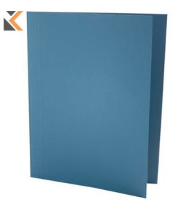 Guildhall Square Cut Folder, 315gsm, 35X24.2cm - Blue - [Pack of 100]
