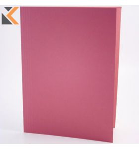 Guildhall Square Cut Folder, 35X24.2cm ,315gsm - Pink - [Pack of 100]