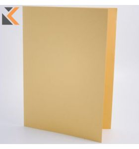 Guildhall Square Cut Folder, 35X24.2cm ,315gsm - Yellow - [Pack of 100]