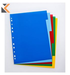 Elba Strongline A4 Coloured Polypropylene Indices & Dividers - [5 Part]