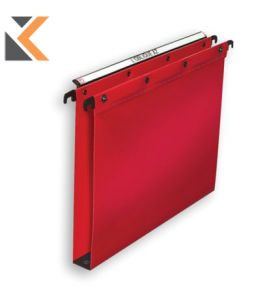 Elba Strongline Polypro Ultimate Suspension Red Files Foolscap 30mm Hvy Dty - [Bx25]