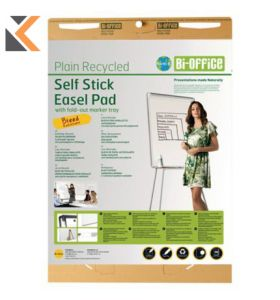Bi-Office Earth It Plain Recycled Self Stick Easel Flipchart Pad - [Pack of 2]
