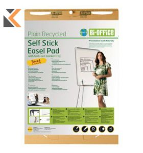 Bi-Office Earth It Recycled Plain Self Stick Easel Flipchart Pad - [Pack of 2]