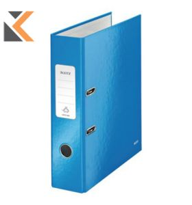 Leitz 180° Wow Laminated A4 , Spine, Lever Arch Blue File - [80mm]