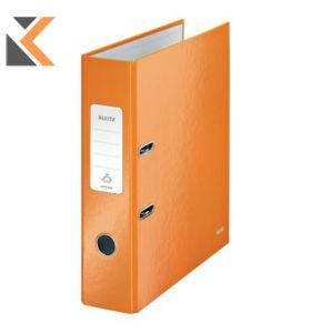 Leitz 180° Wow Laminated A4 , Spine, Lever Arch File Orange - [80mm]