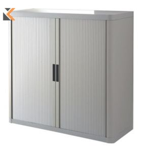 Paperflow EasyOffice Tambour Cupboard - 1M Grey