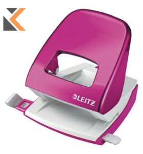 Leitz NeXXt Wow Series 30 Sheet 2 Hole Punch Pink - [5008]