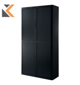 Paperflow EasyOffice Tambour Cupboard - [2043 X 1100 X 415mm] Black/Black