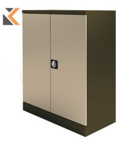 Kontrax Stationery Cupboard - 1M Coffee / Cream