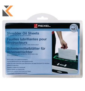 Rexel Shredder Oil Sheets - [Pack of 12] A5 Size Shredder Maintenance 2101948