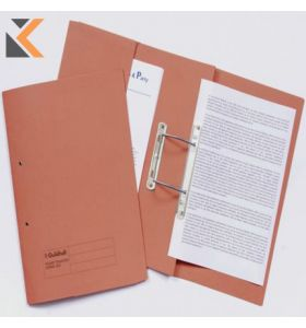Guildhall Orange Foolscap Spring Pocket Transfer Files 315gsm - [Box of 25]