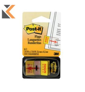 Post-It Index Sign Here - [25 X 44 mm]